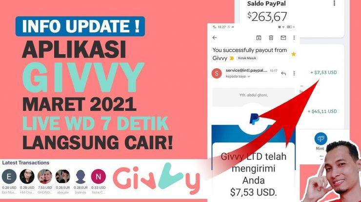 GIVVY, Aplikasi Penghasil Uang 2021 Hoax atau Bukan?